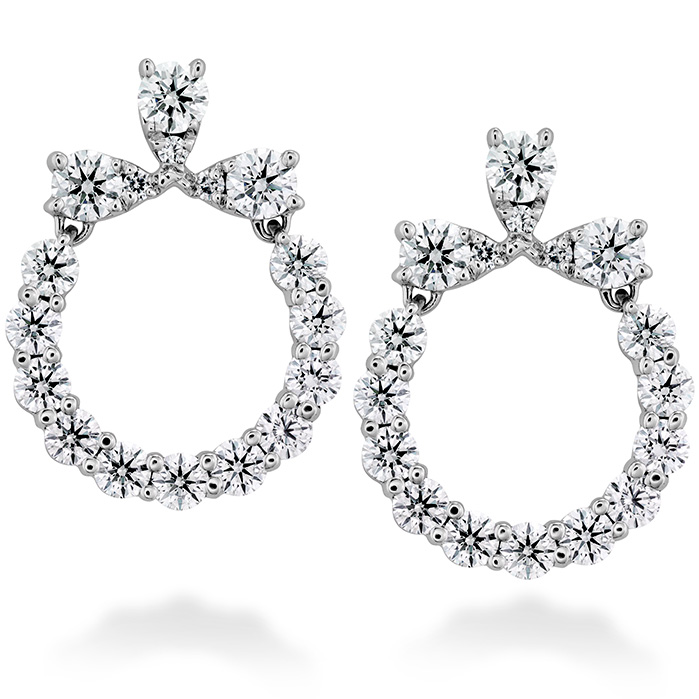 1 ctw. Aerial Circle Earrings in 18K White Gold