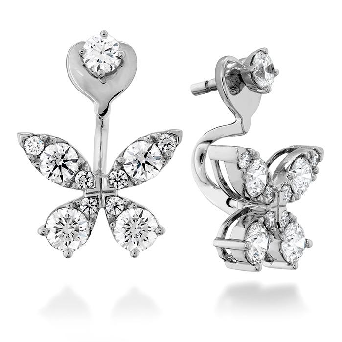 1.15 ctw. Aerial Diamond Earrings in 18K White Gold