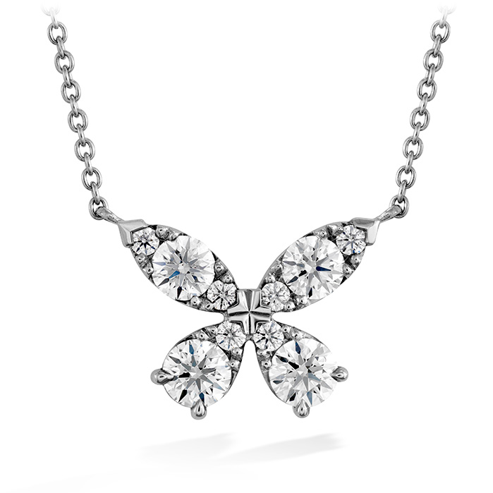 0.8 ctw. Aerial Diamond Pendant in 18K White Gold