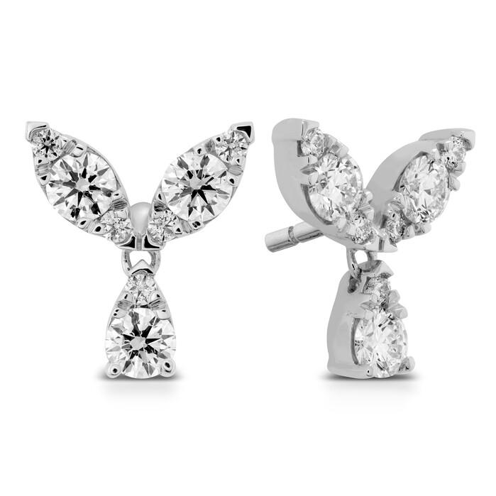 0.4 ctw. Aerial Petal Stud Earrings in 18K White Gold