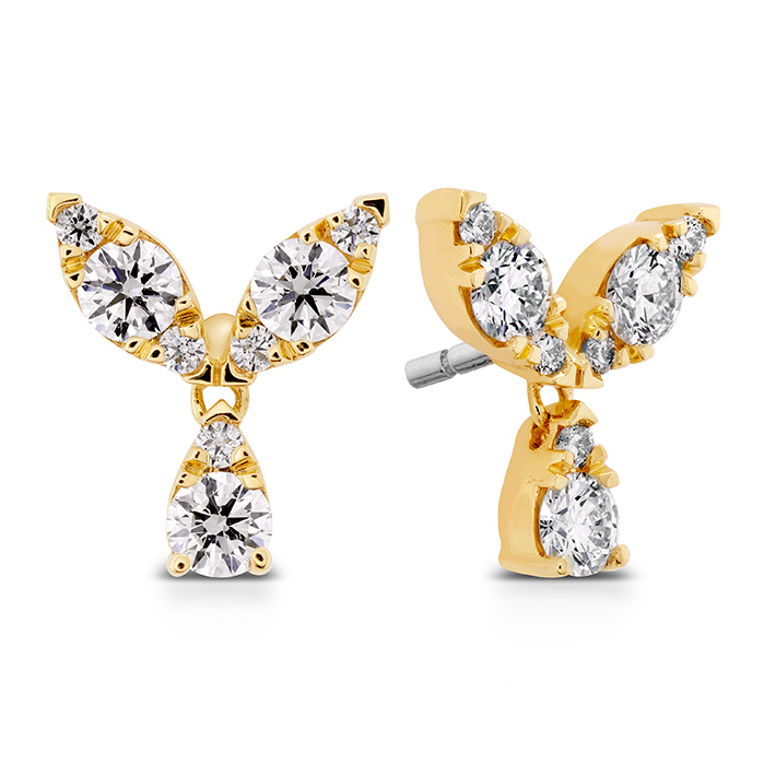 0.4 ctw. Aerial Petal Stud Earrings in 18K Yellow Gold