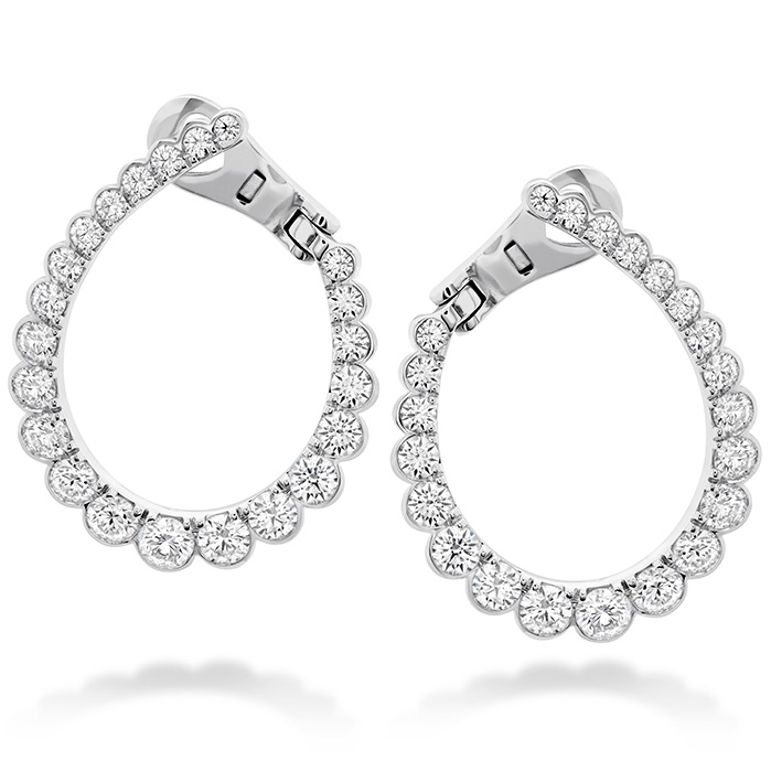2.1 ctw. Aerial Regal Diamond Hoop Earrings in 18K Rose Gold