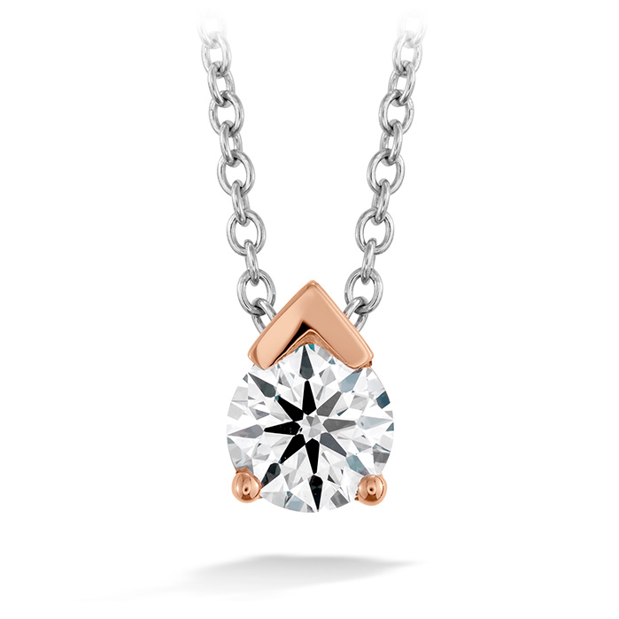 0.5 ctw. Aerial Single Diamond Pendant in 18K Rose Gold