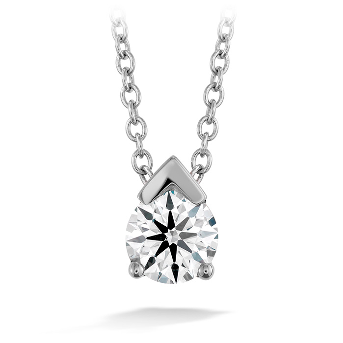 0.2 ctw. Aerial Single Diamond Pendant in 18K White Gold