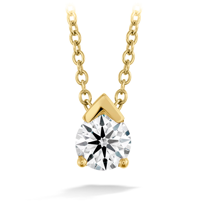 0.1 ctw. Aerial Single Diamond Pendant in 18K Yellow Gold
