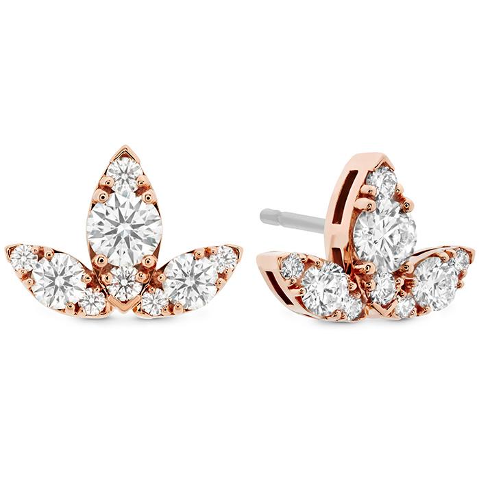 1.15 ctw. Aerial Triple Diamond Stud Earrings - L in 18K Rose Gold