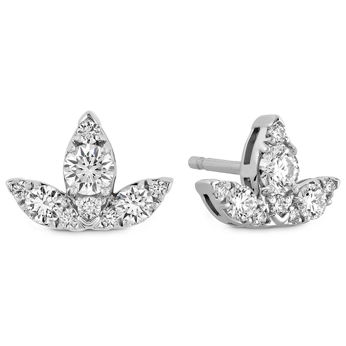 0.6 ctw. Aerial Triple Diamond Stud Earrings - S in 18K Rose Gold