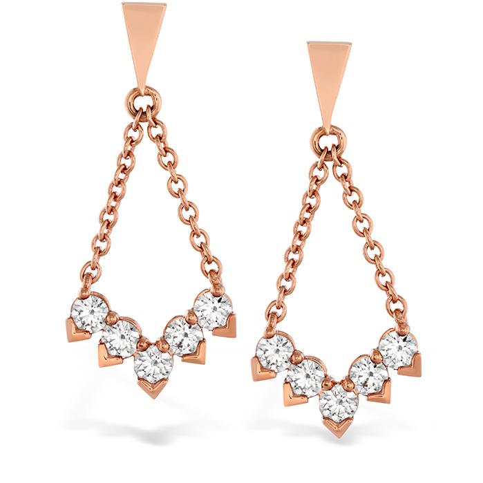 0.8 ctw. Aerial Diamond V Drop Earrings in 18K White Gold