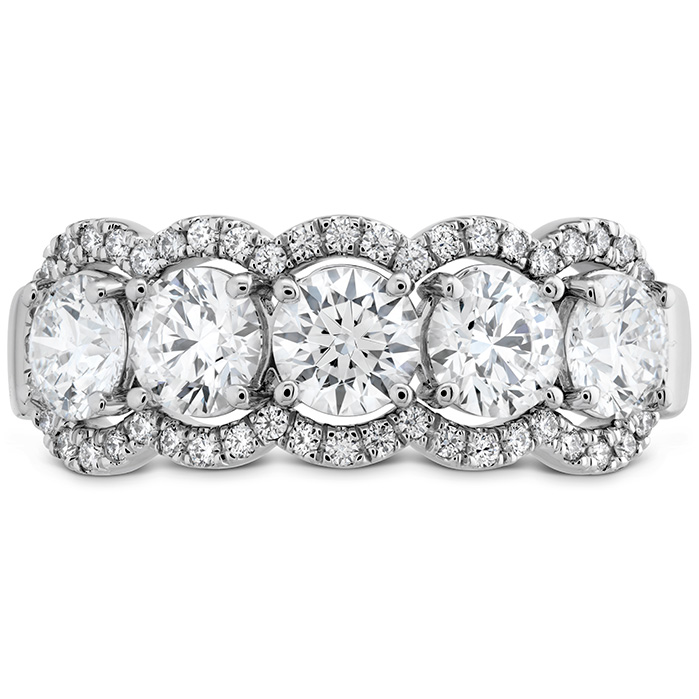 1.55 ctw. Aurora Five Diamond Band in 18K White Gold