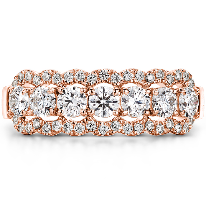 0.94 ctw. Aurora Seven Diamond Band in 18K Rose Gold