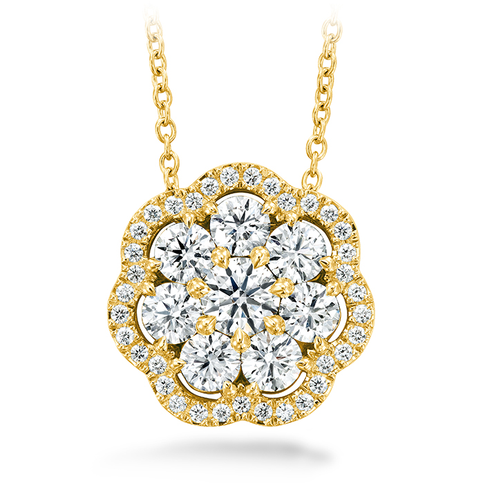 1.45 ctw. Aurora Cluster Pendant in 18K Yellow Gold