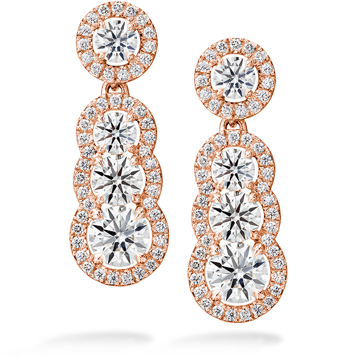 2.81 ctw. Aurora Drop Earrings in 18K Rose Gold