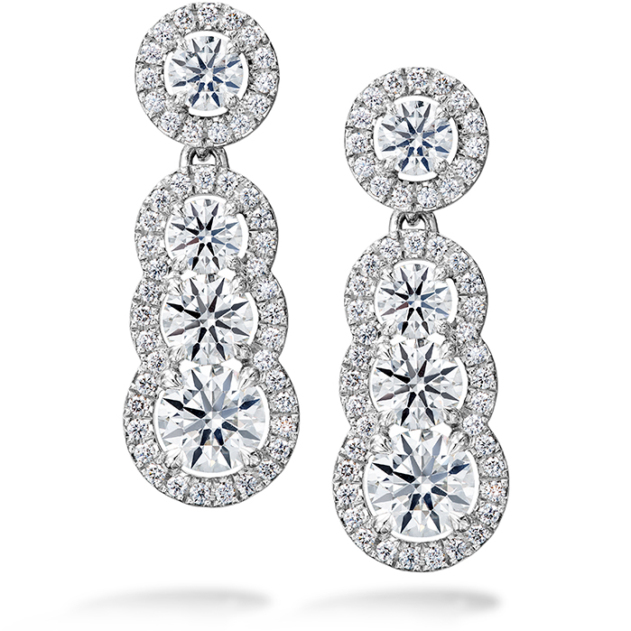 2.81 ctw. Aurora Drop Earrings in 18K White Gold