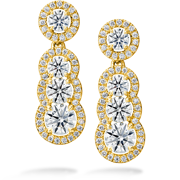 2.81 ctw. Aurora Drop Earrings in 18K Yellow Gold