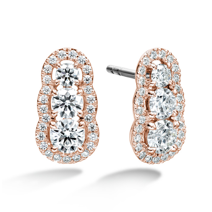 1.27 ctw. Aurora  Earrings in 18K Rose Gold