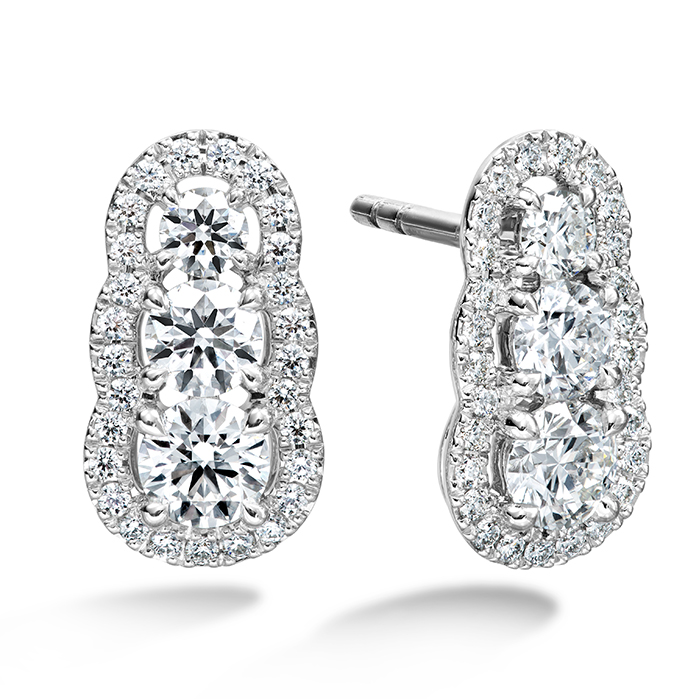 1.27 ctw. Aurora  Earrings in 18K White Gold