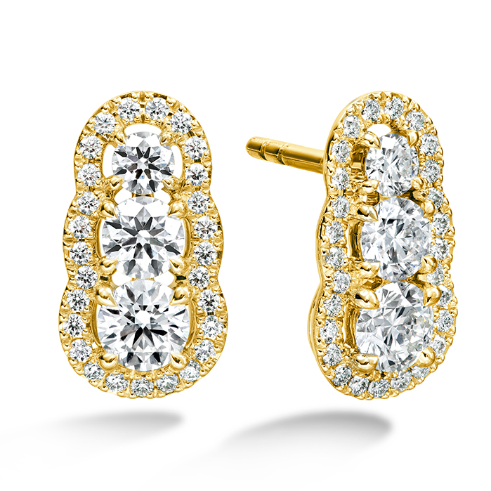 1.27 ctw. Aurora  Earrings in 18K Yellow Gold