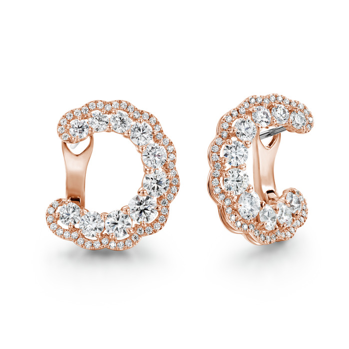 3.35 ctw. Aurora Hoop Earrings in 18K Rose Gold