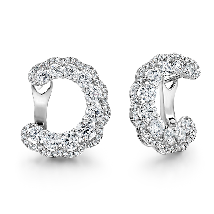 3.35 ctw. Aurora Hoop Earrings in 18K White Gold