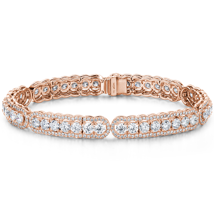 8.8 ctw. Aurora Line Bracelet in 18K Rose Gold