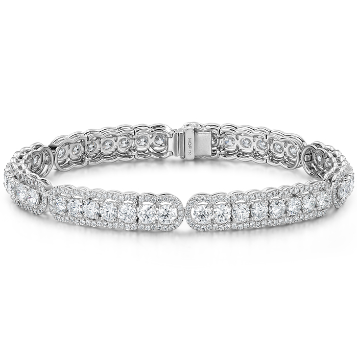 8.8 ctw. Aurora Line Bracelet in Platinum