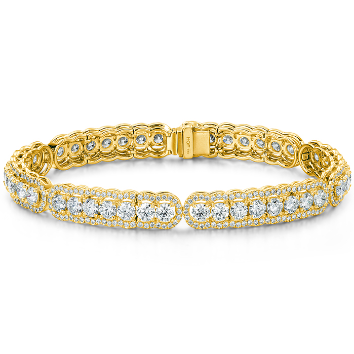 8.8 ctw. Aurora Line Bracelet in 18K Yellow Gold