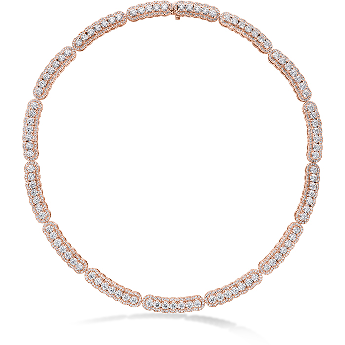 20.21 ctw. Aurora Line Necklace in 18K Rose Gold