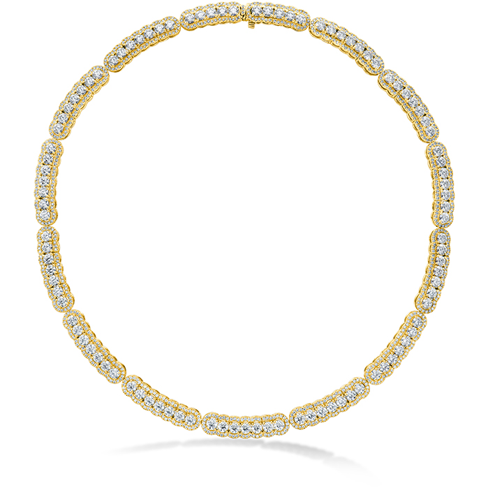 20.21 ctw. Aurora Line Necklace in 18K Yellow Gold