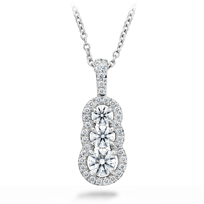 0.77 ctw. Aurora Pendant - Small in 18K White Gold