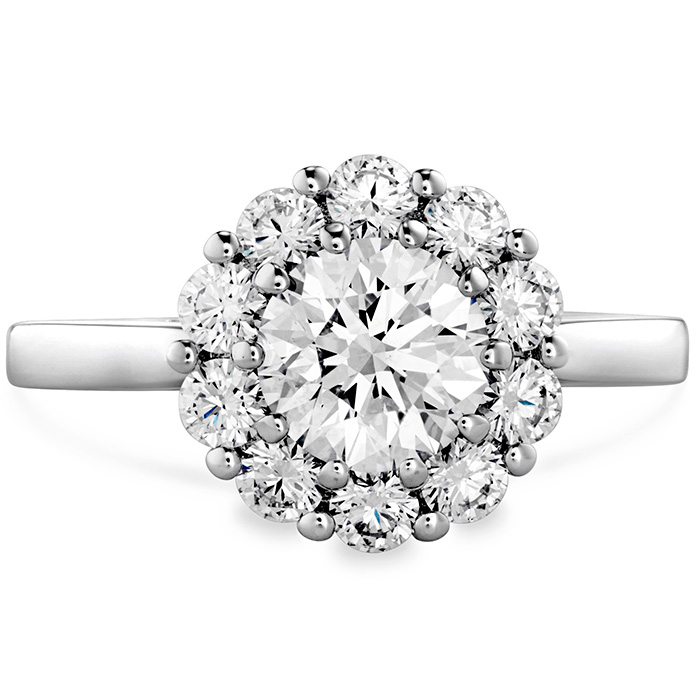 0.2 ctw. Beloved Open Gallery Engagement Ring in 18K White Gold