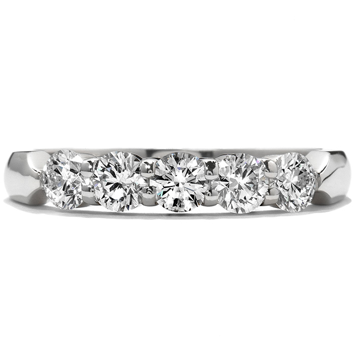 2 ctw. Five-Stone Wedding Band in 18K White Gold