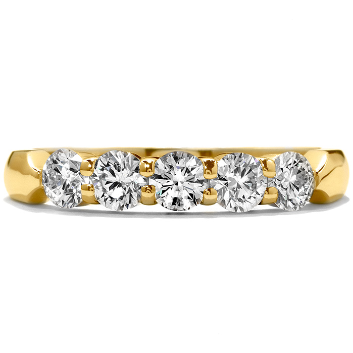 0.75 ctw. Five-Stone Wedding Band in 18K Yellow Gold