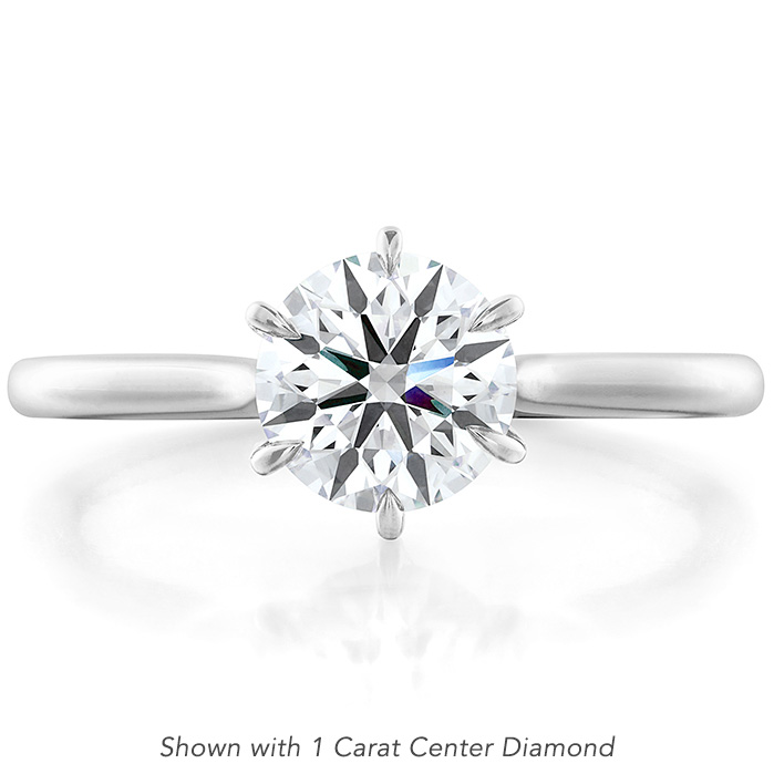 Camilla 6 Prong Engagement Ring in Platinum