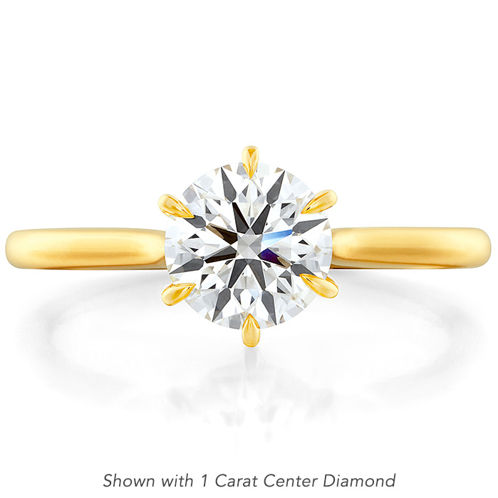 Camilla 6 Prong Engagement Ring in 18K Yellow Gold