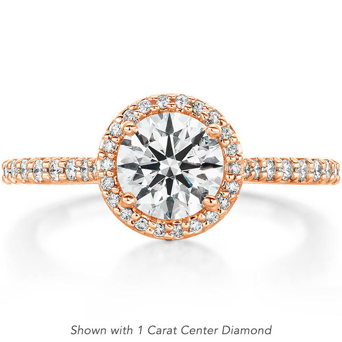 0.23 ctw. Camilla Halo Diamond Engagment Ring in 18K Rose Gold
