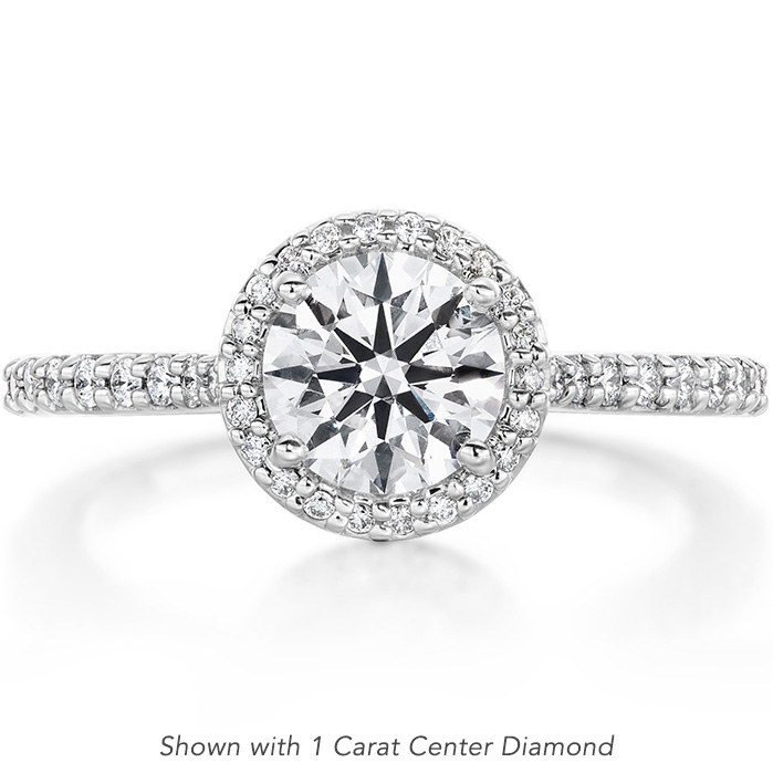 0.22 ctw. Camilla Halo Diamond Engagment Ring in 18K White Gold