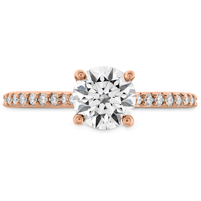 0.18 ctw. Camilla HOF Engagement Ring - Dia Band in 18K Rose Gold