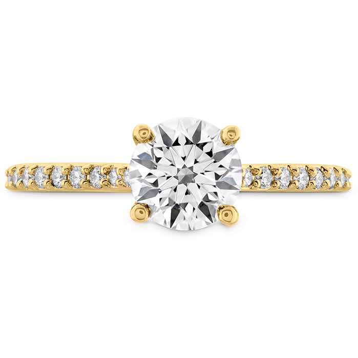 0.18 ctw. Camilla HOF Engagement Ring - Dia Band in 18K Yellow Gold