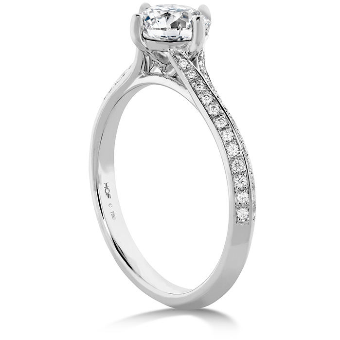 Camilla Pave Knife Edge Engagement Ring