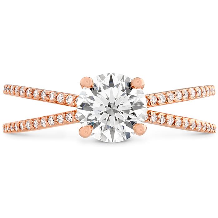 0.14 ctw. Camilla Split Shank Engagement Ring in 18K Rose Gold
