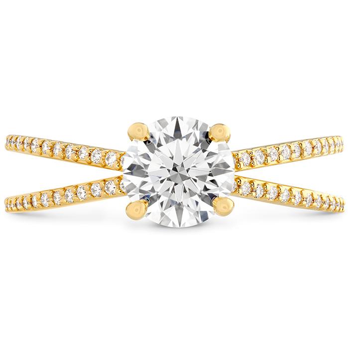 0.14 ctw. Camilla Split Shank Engagement Ring in 18K Yellow Gold