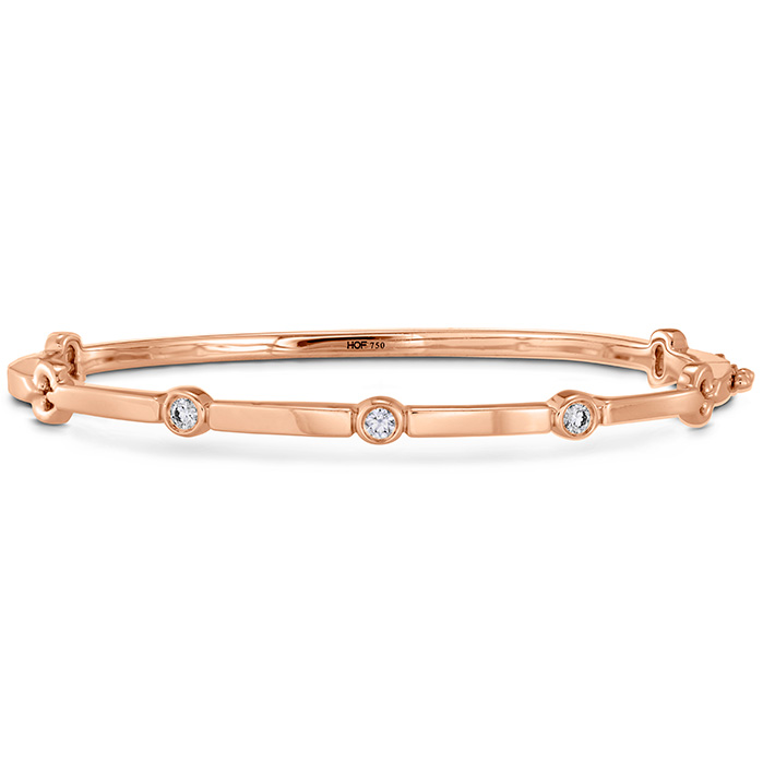 0.15 ctw. Copley Multi Stone Bangle in 18K Rose Gold