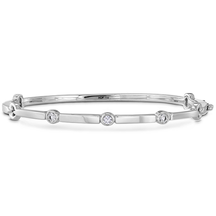 0.15 ctw. Copley Multi Stone Bangle in 18K White Gold