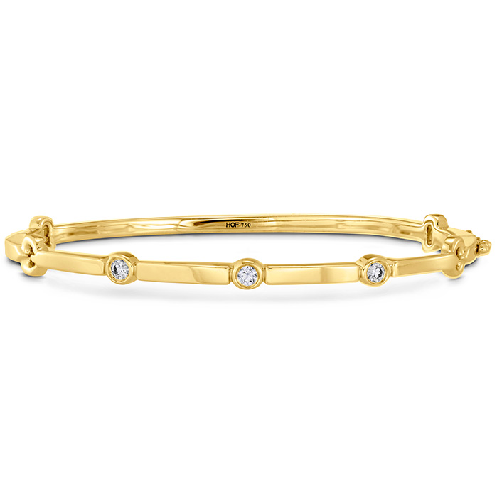0.15 ctw. Copley Multi Stone Bangle in 18K Yellow Gold