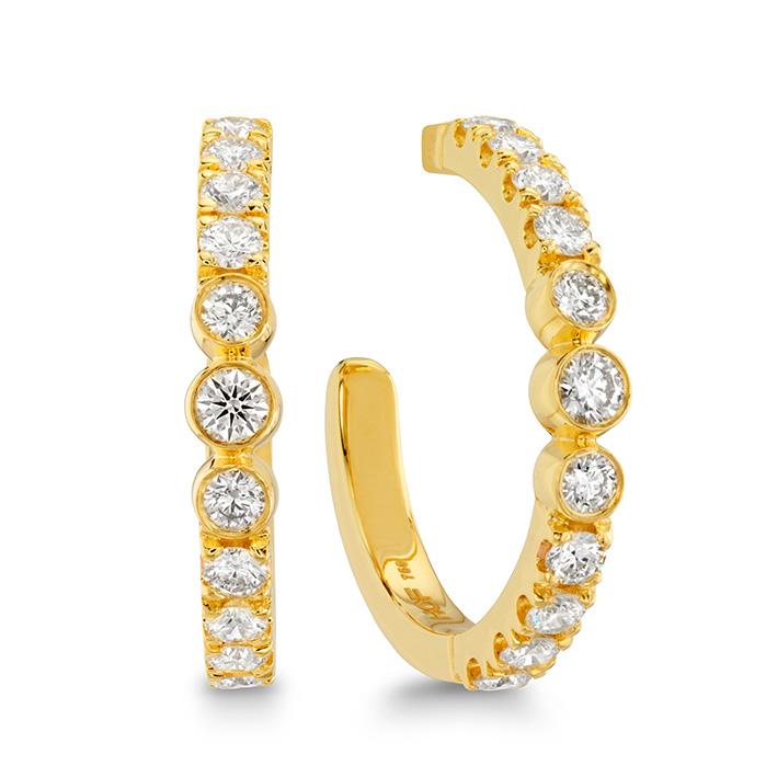 0.8 ctw. Copley Bezel Hoop Earrings in 18K Yellow Gold