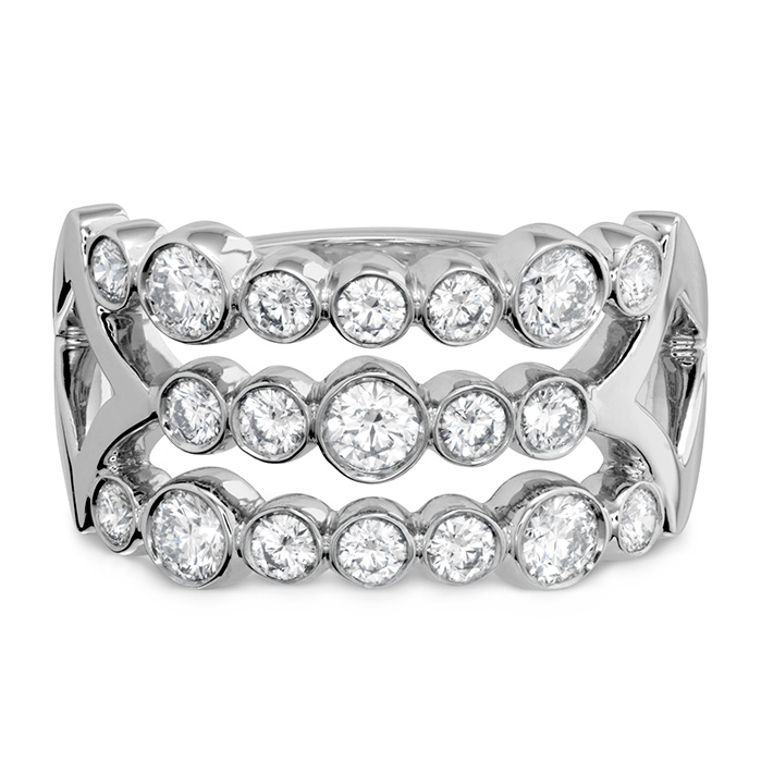 0.9 ctw. Copley Bezel Right Hand Ring in 18K White Gold