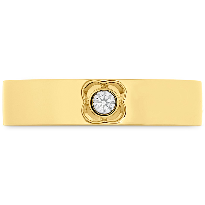 0.06 ctw. Copley Single Diam Band 5mm in 18K Yellow Gold w/Platinum