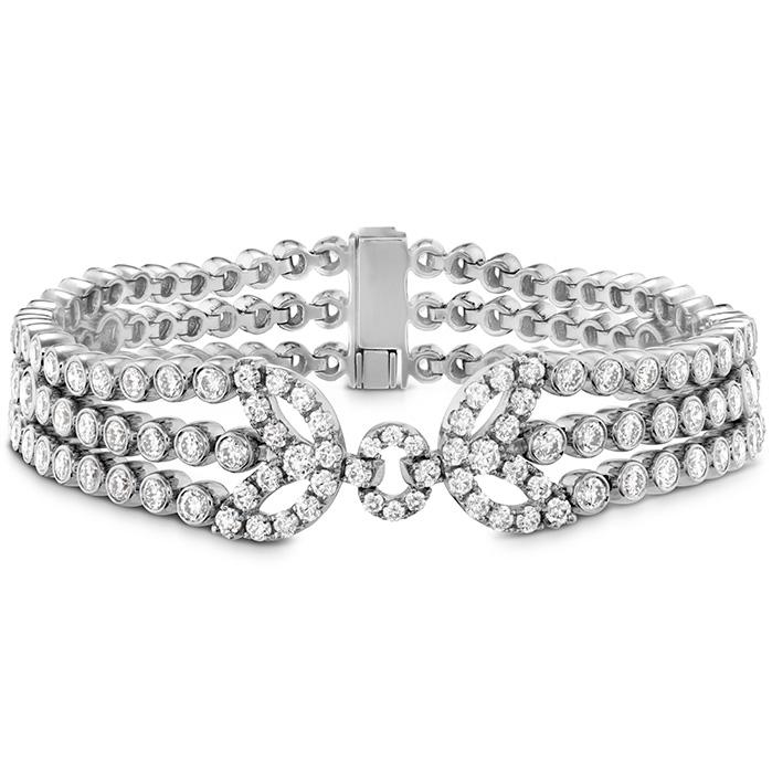 8.4 ctw. Copley Tassel Diamond Bracelet in 18K White Gold