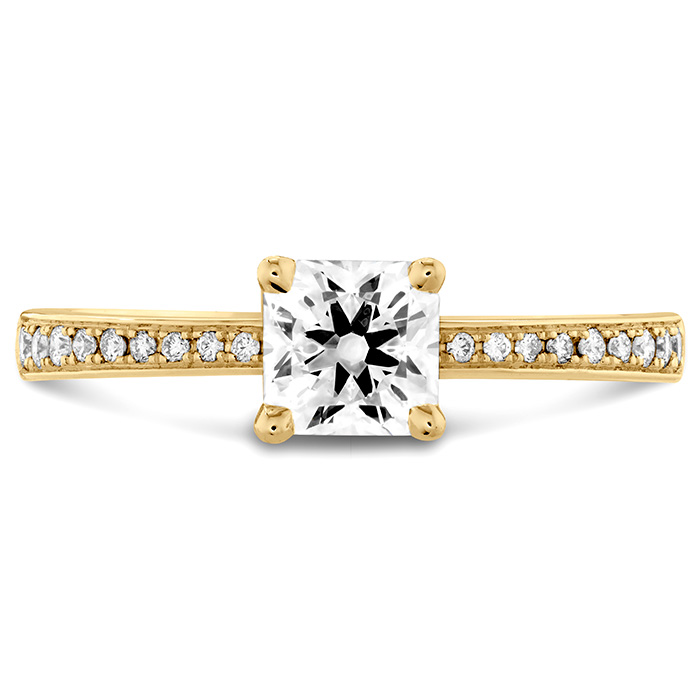 0.1 ctw. Dream Signature Engagement Ring-Diamond Band in 18K Yellow Gold