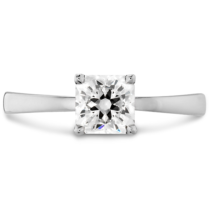 Dream Signature Solitaire Engagement Ring in 18K White Gold